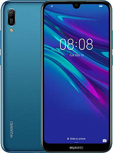 """Смартфон Huawei Y6 2019 Dual Sim Sapphire Blue; 6.09"""" (1560х720) IPS / MediaTek MT6761 / ОЗУ 2 ГБ / 32 ГБ встроенной + microSD до 512 ГБ / камера 13"""