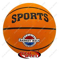 Мяч баскетбольный резиновый №7, Sports BA-4507 (резина, бутил, оранжевый)