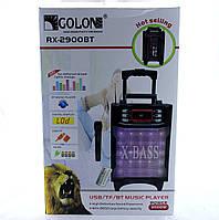 Колонка комбик Bluetooth mp3 радиомикрофон пульт цветомузыка Golon RX-2900 BT, фото 1