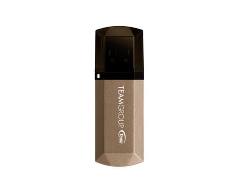 Флеш-накопитель USB3.0 64Gb Team C155 Golden (TC155364GD01)
