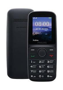 """Мобильный телефон Philips Xenium E109 Dual Sim Black (CTE109BK_00); 1.77"""" (160x128) TN / клавиатурный моноблок / MediaTek MT6261 / ОЗУ 32 МБ / 32 МБ"""