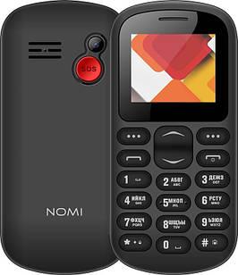 """Мобильный телефон Nomi i187 Dual Sim Black; 1.77"""" (160x128) TN / клавиатурный моноблок / MediaTek MT6261D / ОЗУ 32 МБ / 32 МБ встроенной + microSD до"""