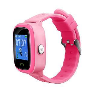 """Детские смарт-часы Canyon CNE-KW51 Red; 1.22"""" (240х240) сенсорный / GPS, LBS / 46 х 40 х 16 мм, 35 г / IP68 / 420 мАч / розовый"""