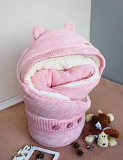 """Конверт для новорожденных """"Мишутка розовый"""", фото 2"""