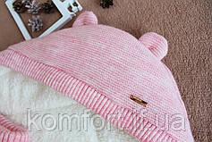"""Конверт для новорожденных """"Мишутка розовый"""", фото 3"""