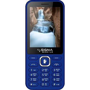 "Мобильный телефон Sigma mobile X-style 31 Power Dual Sim Blue; 2.8"" (320х240) TN / клавиатурный моноблок / MediaTek MTK6261 / microSD до 32 ГБ /"
