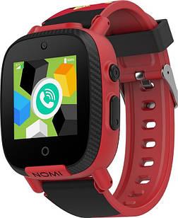 """Детские смарт-часы Nomi Kids Transformers W2s Red (491808); 1.3"""" (240х240) TFT сенсорный / MediaTek MTK2503A / ОЗУ 32 МБ / 256 МБ встроенной / камера"""