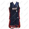Детская баскетбольная форма Майами Хит №6 синяя