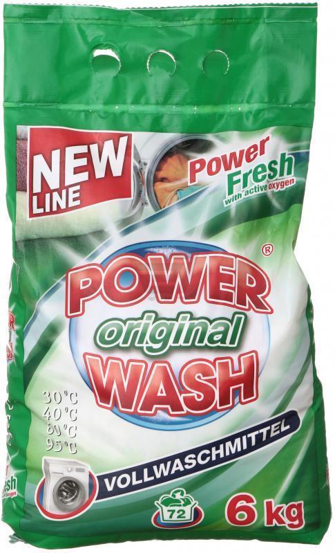 Стиральный порошок Power Wash Original Универсальный 6 кг, 72 стирки.