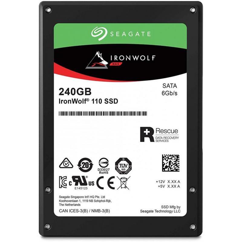 "Накопитель SSD 240GB Seagate IronWolf 110 2.5"" SATAIII 3D TLC (ZA240NM10011)"