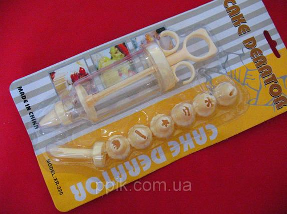 Кондитерский шприц с насадками маленький, фото 2