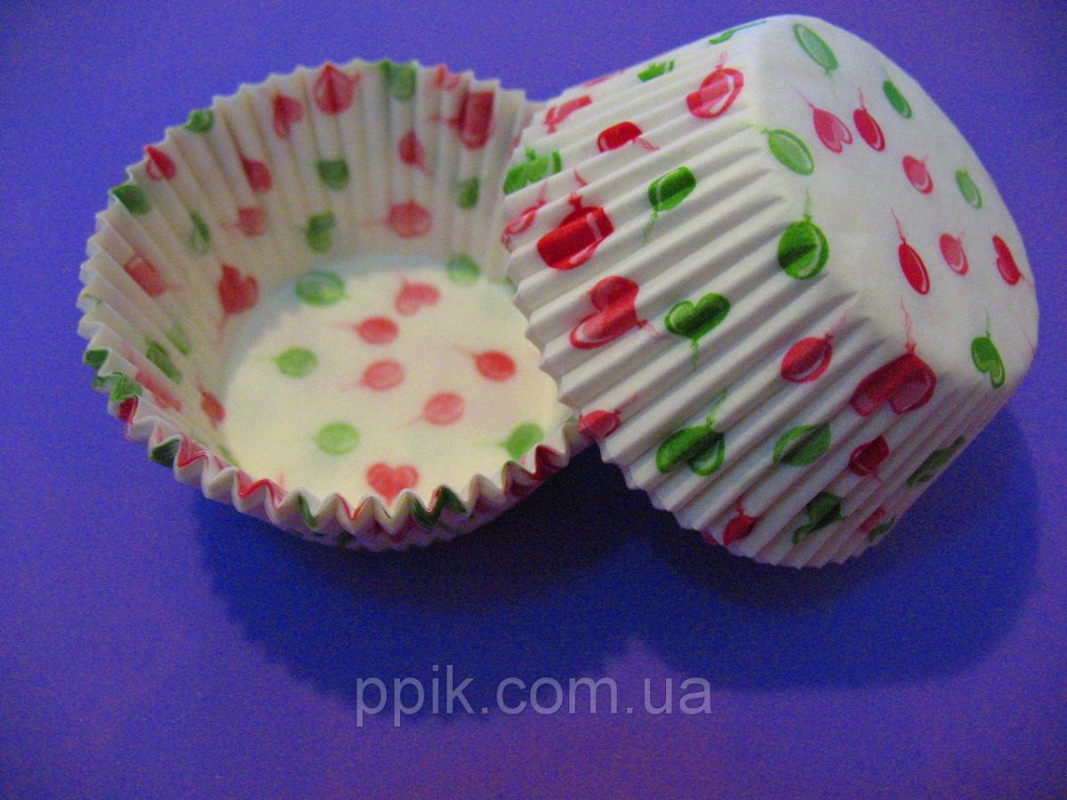 Тарталетки (капсулы) бумажные для кексов, капкейков Воздушные шары