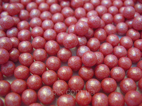 Посыпка шарики красный жемчуг 7 мм, 50 грамм, фото 2