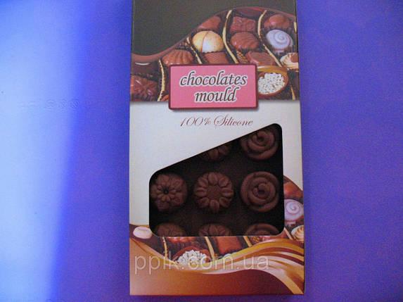 Форма силикон для конфет Цветочное ассорти, цвет в ассортименте, фото 2