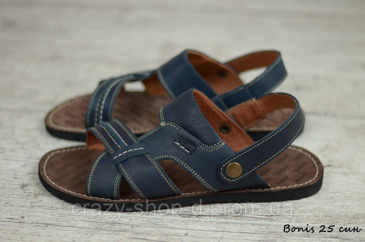 Мужские кожаные сандалии, босоножки Bonis  (Реплика)  (Код: Bonis 25 син  ) ► [39,40,41,42,43,44,45]