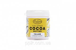 Пастообразный пищевой краситель Criamo для шоколада МАКСИ с какао маслом Желтый 160 грамм