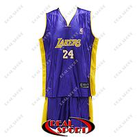 Детская баскетбольная форма Лос-Анджелес Лейкерс №24 фиолетовая