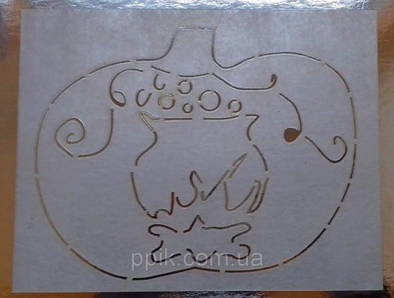 Трафарет для торта, пряников Тыква с котлом, фото 2