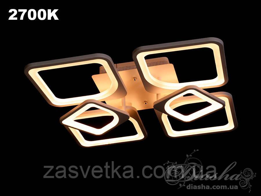 Сверхъяркая светодиодная люстра MX22811/4+2 dimmer черная