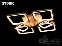 Сверхъяркая светодиодная люстра MX22811/4+2 dimmer черная, фото 1