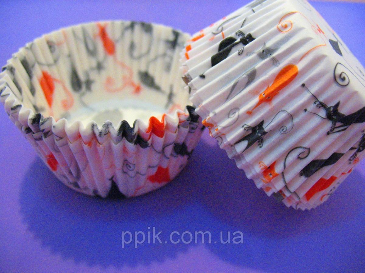 Тарталетки бумажные для кексов, капкейков Котики