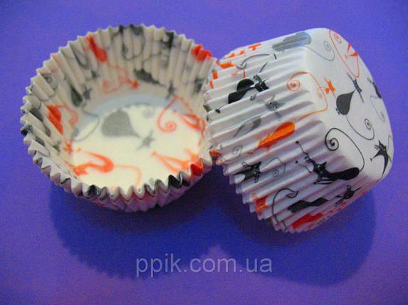 Тарталетки бумажные для кексов, капкейков Котики, фото 2
