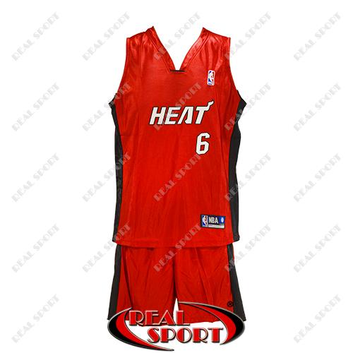 Детская баскетбольная форма Майами Хит красная