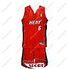Детская баскетбольная форма Майами Хит №6 красная
