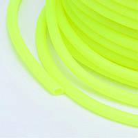 Шнур Резиновый Синтетический полый, Цвет: Лимонный, Размер: Толщина 2мм, Отверстие около 1мм, около 50м/катушка, (УТ100015051)