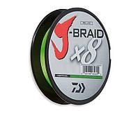 Шнур Daiwa J-Braid x8 Chartreuse 150м 0.22мм, фото 1