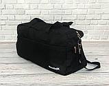 Спортивна, дорожня сумка рібок, Reebok з плечовим ременем. Чорна, фото 4