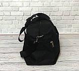 Спортивна, дорожня сумка рібок, Reebok з плечовим ременем. Чорна, фото 7
