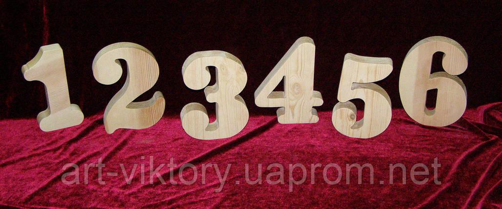 Цифры из дерева (высота 18 см), декор, фото 2