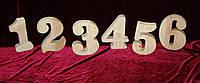 Цифры из дерева (высота 18 см), декор