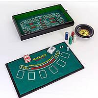 Мини-казино с рулеткой 3 в 1 100 фишек IG-2055
