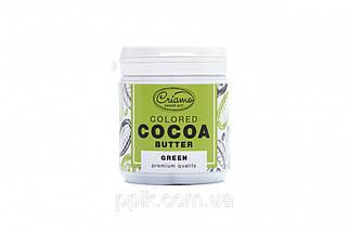 Пастообразный пищевой краситель Criamo для шоколада МАКСИ с какао маслом Зеленый 160 грамм
