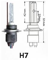 Ксеноновая лампа Н7 (1шт) 4300/5000/6000K