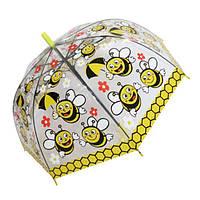 """Детский зонтик трость c ярким рисунками """"Пчелки"""" от фирмы """"Paolo Rosi"""""""