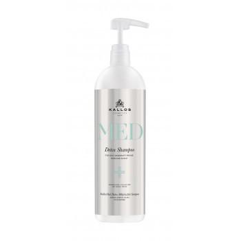 Шампунь Kallos MED Detox від лупи для жирного волосся і шкіри голови (1л.)