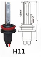 Ксеноновая лампа Н11 (1шт) 4300/5000/6000K