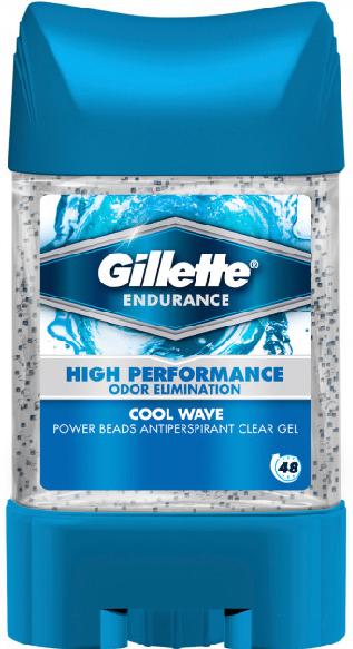 "Гелевий дезодорант-антиперспірант Gillette Power Beads ""Cool Wave"" з гранулами (75мл.)"