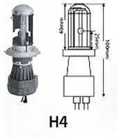 Биксеноновая лампа Н4 (1шт) 4300/5000/6000K