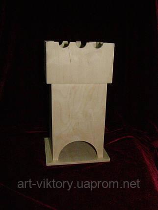Деревянная коробка для чая (заготовка) под декупаж Башня с конфетницей (11,5 х 11,5 х 23 см), фото 2
