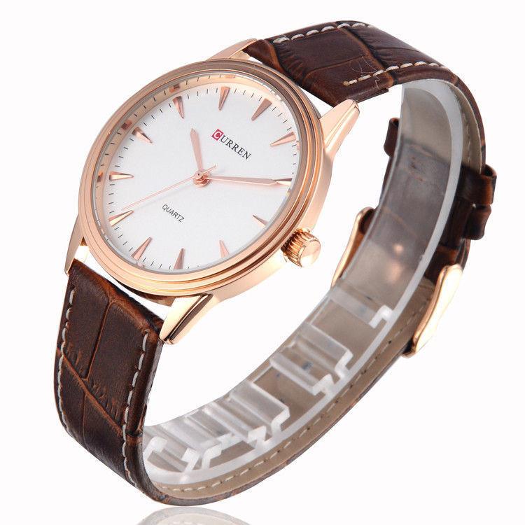 Часы мужские Curren Classic Brown-gold-white