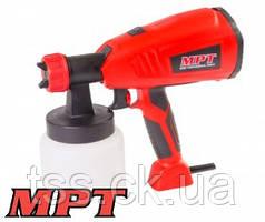 MPT  Краскопульт электрический 400 Вт 700 мл, 60 DIN/сек., Ø 1,8-2,6 мм, 700 мл/мин, 1,5-2,5 бар, Арт.: MESG4003