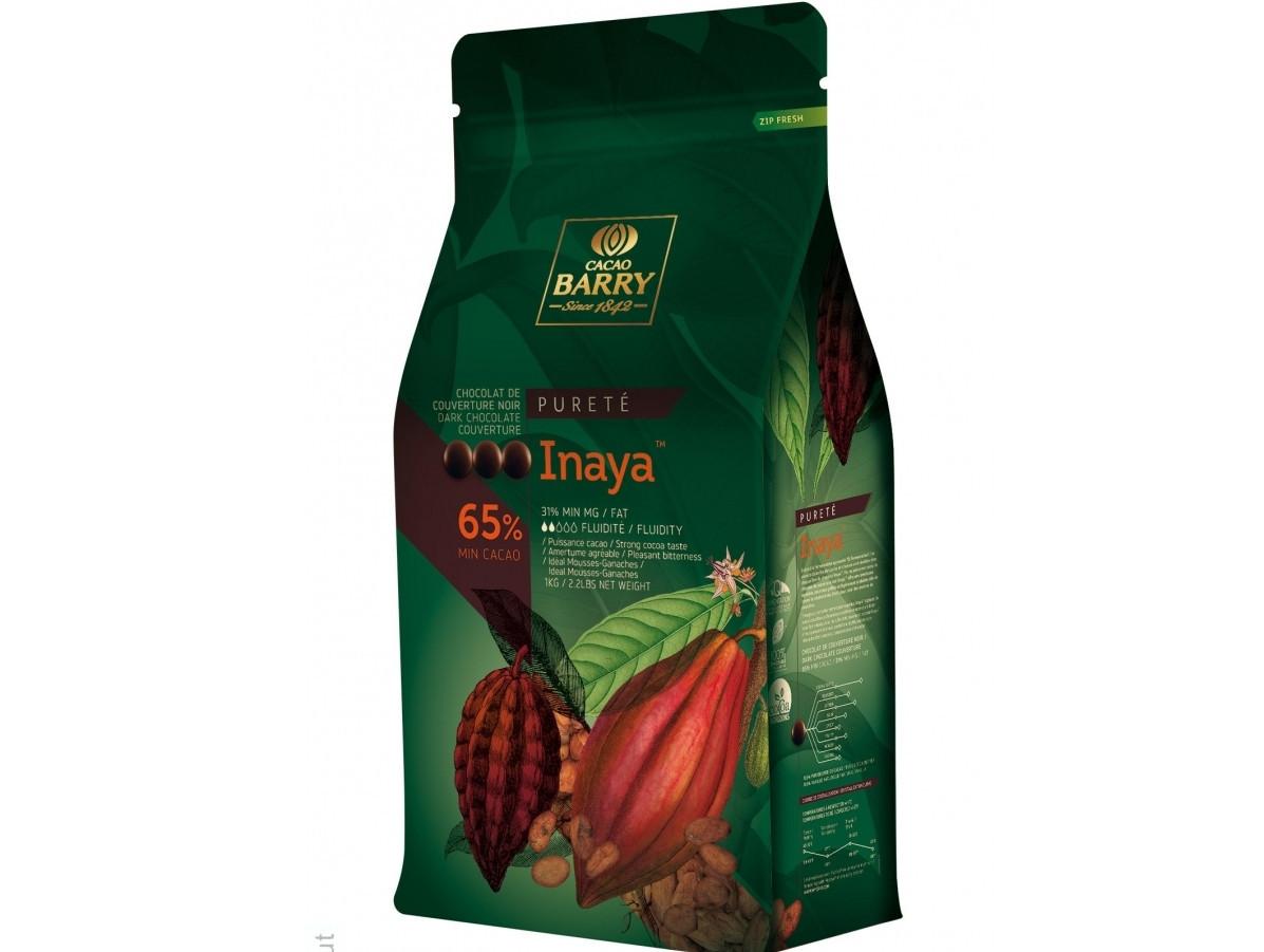 Бельгийский Черный шоколад Cacao Barry Inaya 65%, 1 кг