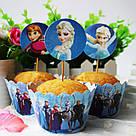 Набор обверток и топперов для кексов Принцессы диснея, фото 2