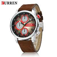 Часы мужские Curren California brown-silver-red, фото 1
