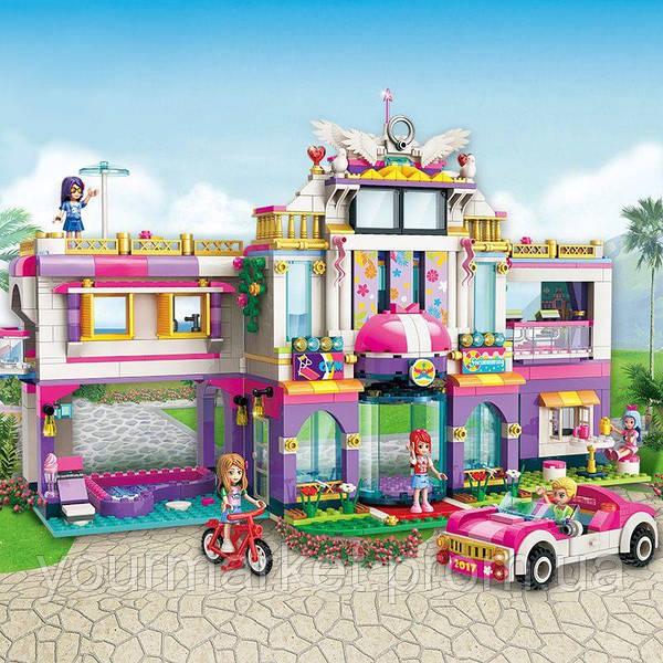 Конструктор для девочек Вилла Гостиница 944 деталей Brick Qman 2017
