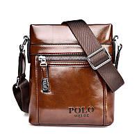 Сумка мужская Polo Ding dark brown, фото 1